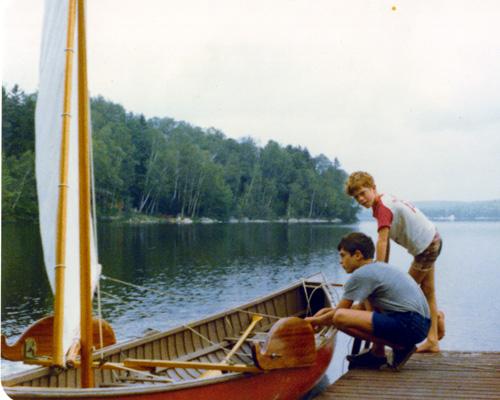 Gerrish rowing canoe